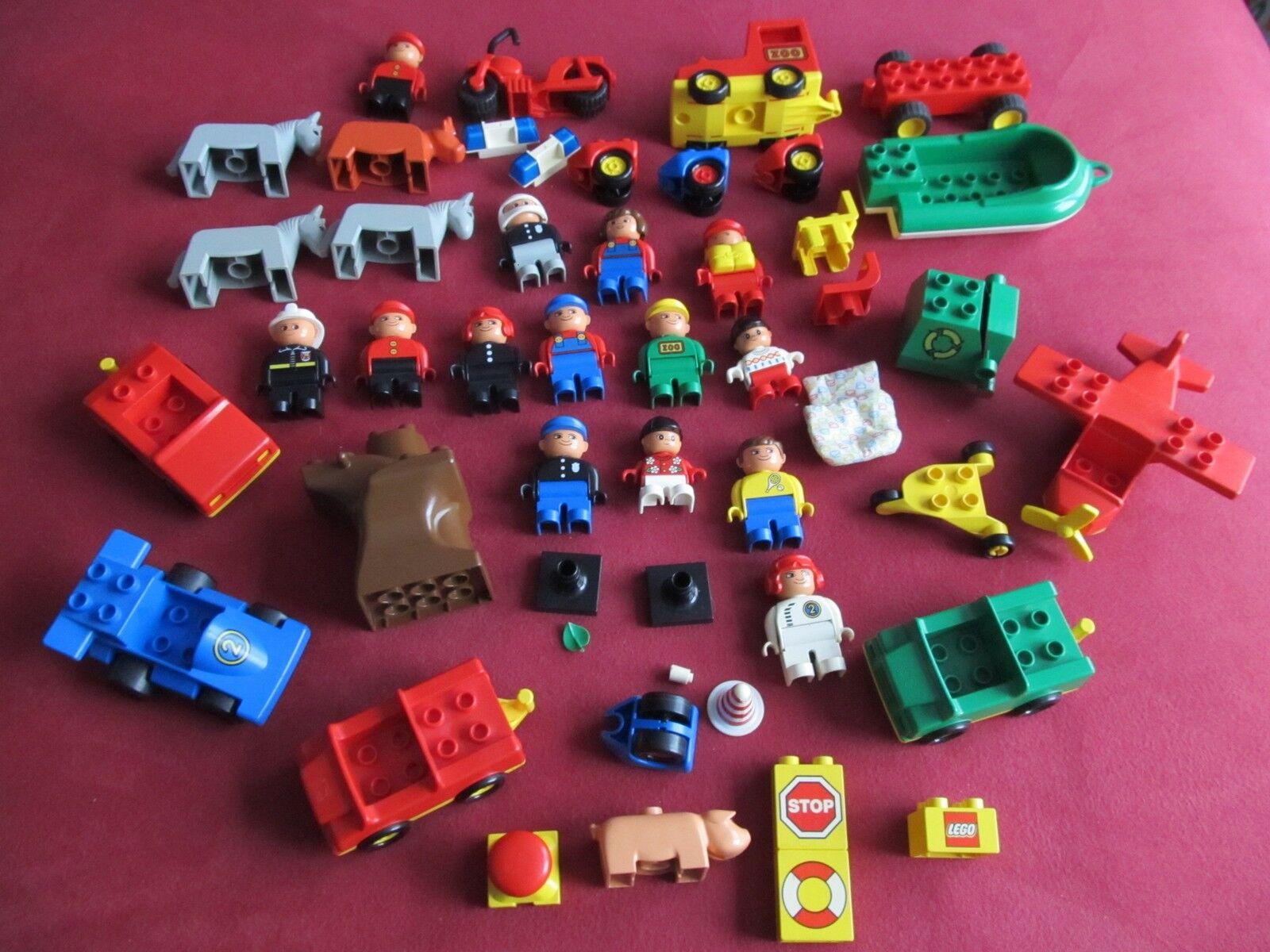 RAR Duplo Lego Set`s, Flugzeug, Stiefel, Figuren, Müllwafen, Auto´s ,Pferde,Tiere
