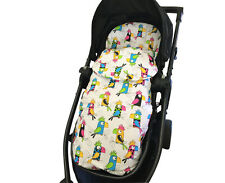GOOSEBERRY FOOTMUFF PRAM LINER SLEEPING BAG 2in1 Cotton Parrots All Year TheBest