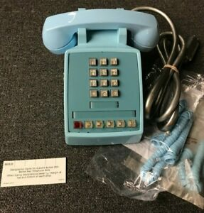 NOS-Western-Electric-Bell-System-2565-Touchtone-5-Line-Telephone-62-AQUA-BLUE