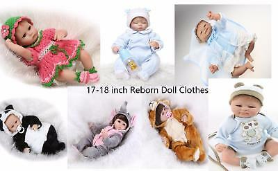 For10-11/'/' Mini bebe Reborn Clothes Outfit Baby Girl Boy 26-28 cm dolls Clothing