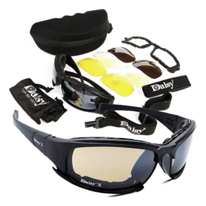 Polarized X7 Tactical Glasses Shooting Military Goggles Hiking Hunting Sport Gaf