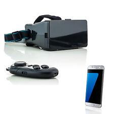 3D Brille VR Virtual Reality für Samsung Galaxy S7 Edge S6 S5 Neo mit Controller