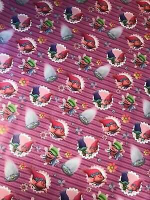 4m 8m 12m 16m TROLLS WRAPPING PAPER BIRTHDAY CHRISTMAS PRESENTS FILM CHARACTER