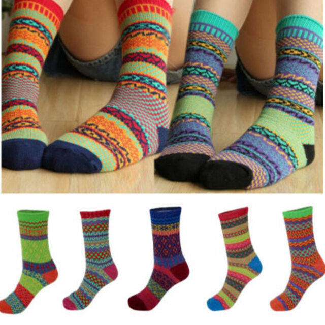 Harajuku Japanese Casual Retro Jacquard Cotton Tide Totem Mens Women's Socks New