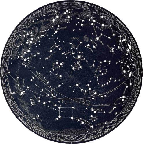 ZODIAC Galaxy Universe Grand imprimé encadrée vintage 1963 constellations star map