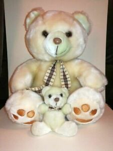 Ours-en-peluche-vintage-avec-son-petit-ourson-90-039-s
