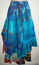 New Fair Trade Tie Dye Cotton Skirt 8 10 12 - Hippy Ethnic Ethical Boho Hippie