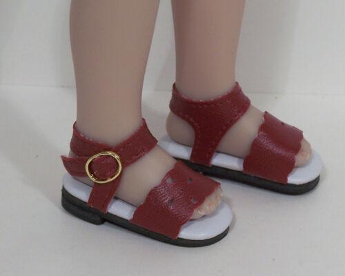 """BURGUNDY Summer Sandal Doll Shoes For Dianna Effner 13/"""" Little Darling Debs"""