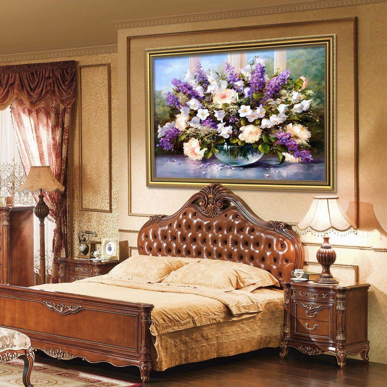 3D Lavender Bouquet 6 Framed Poster Home Decor Print Painting Art AJ WALLPAPER