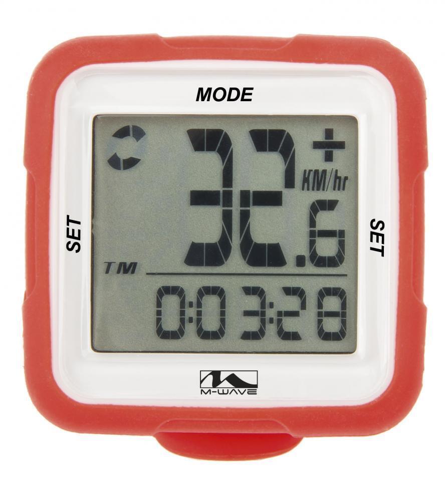 M Wave XIV vélo 14 fonctions numérique sans fil ordinateur SILICONE ROUGE CP712