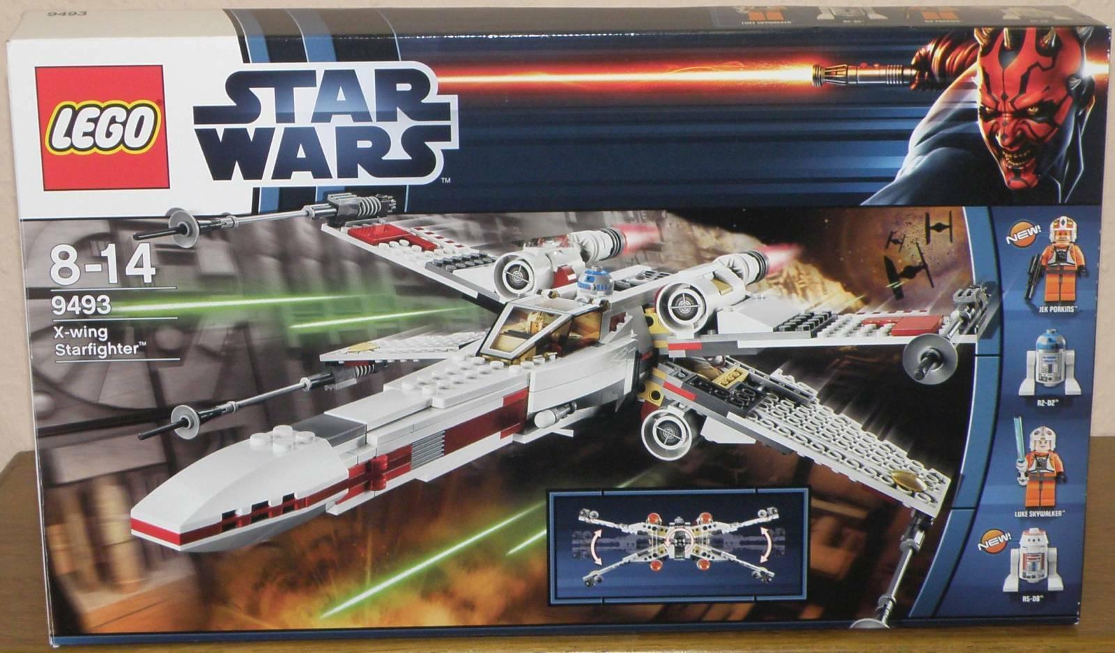 LEGO  estrella guerras 9493 X-Wing stellari con personaggi Istruzioni imbtuttiaggio originale 100% COMPLETO  disponibile