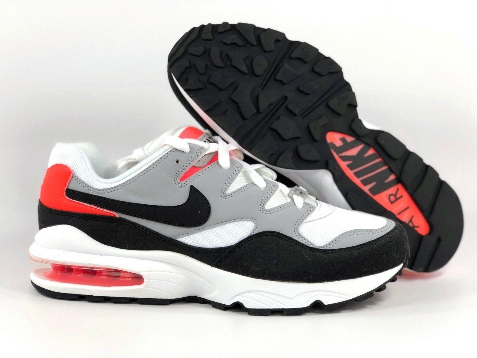 Nike Air Max 94 Wolf Grey Black White Red 747997-006 Men's 9