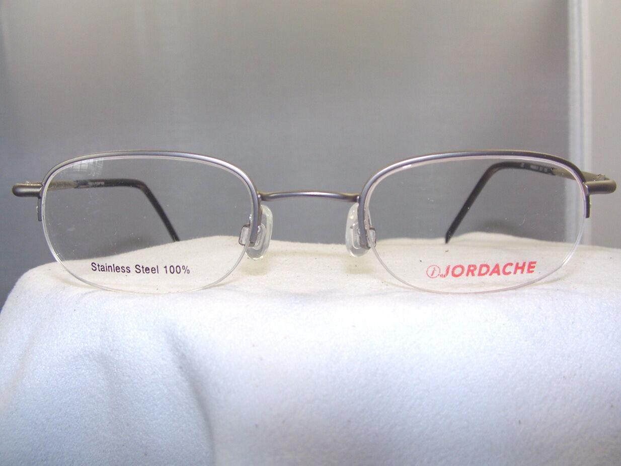Rimless Eyeglass Lens Replacement : JORDACHE ANTIQUE SILVER SEMI RIMLESS EYEGLASS FRAME eBay