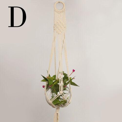 Basket Braided Rope Macrame Pot Craft Plant Hanging Hanger Jute Holder Planter