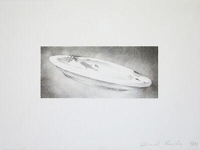 "ED RUSCHA Signed 1973 Original Lithograph - ""Dish"" (E. 67)"