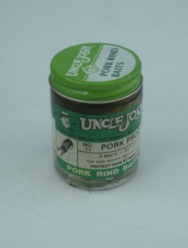 "Uncle Josh 11-GS Original Pork Frog 2.5/"" Green w// Spots 23994"