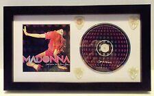Madonna Confessions CD and 4 Guitar Pick Set Framed Display - 2006 Tour