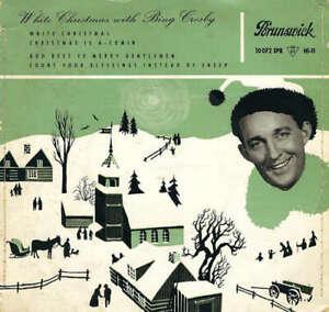 Bing-Crosby-White-Christmas-With-Bing-Crosby-7-034-EP-Vinyl-Schallplatte-44783