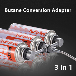 3 In 1 Butane Adapter Stove Aluminum Conversion Adapter BBQ Camping