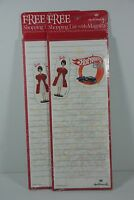 2 Hallmark Shopping Lists With A Barbie And A Hot Wheel Magnet. Mint In Pkg