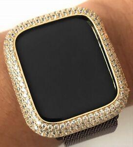 Bling Apple Watch Series 4 5 Bezel Case Face Cover Zirconia Diamond Gold 44 Mm Ebay
