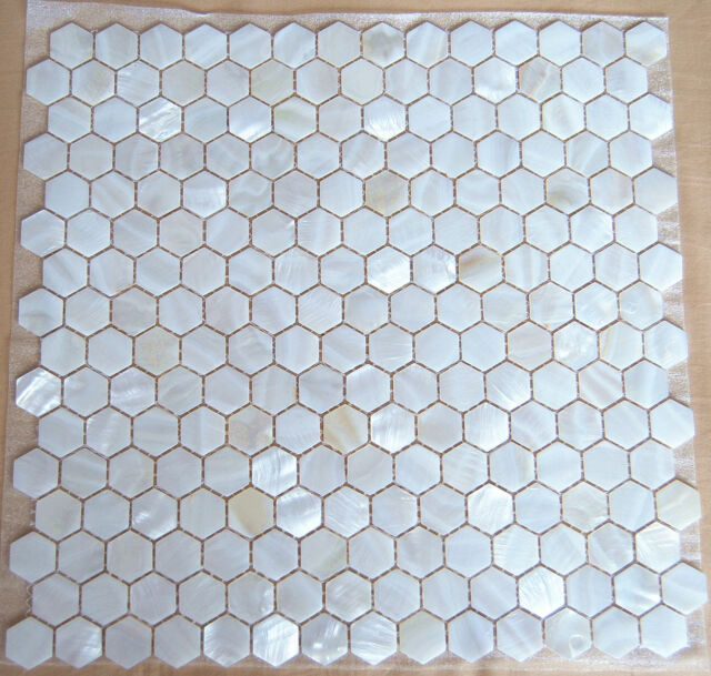 22 Sheets Mother Of Pearl Shell Mosaic Tiles River Bed Nature