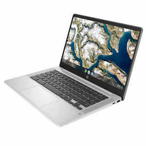 """HP 14"""" FHD Chromebook Intel Celeron 2.6GHz 64GB SSD 4GB RAM Webcam 1080p Grey"""