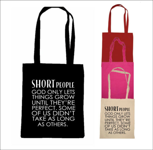SHORT PEOPLE QUOTE BAG funny shopping bag tote gift small people person birthday