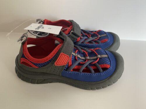 OshKosh B'gosh Boys Mesh Athletic Bumptoe Sandal Blue//Red Toddler Sizes
