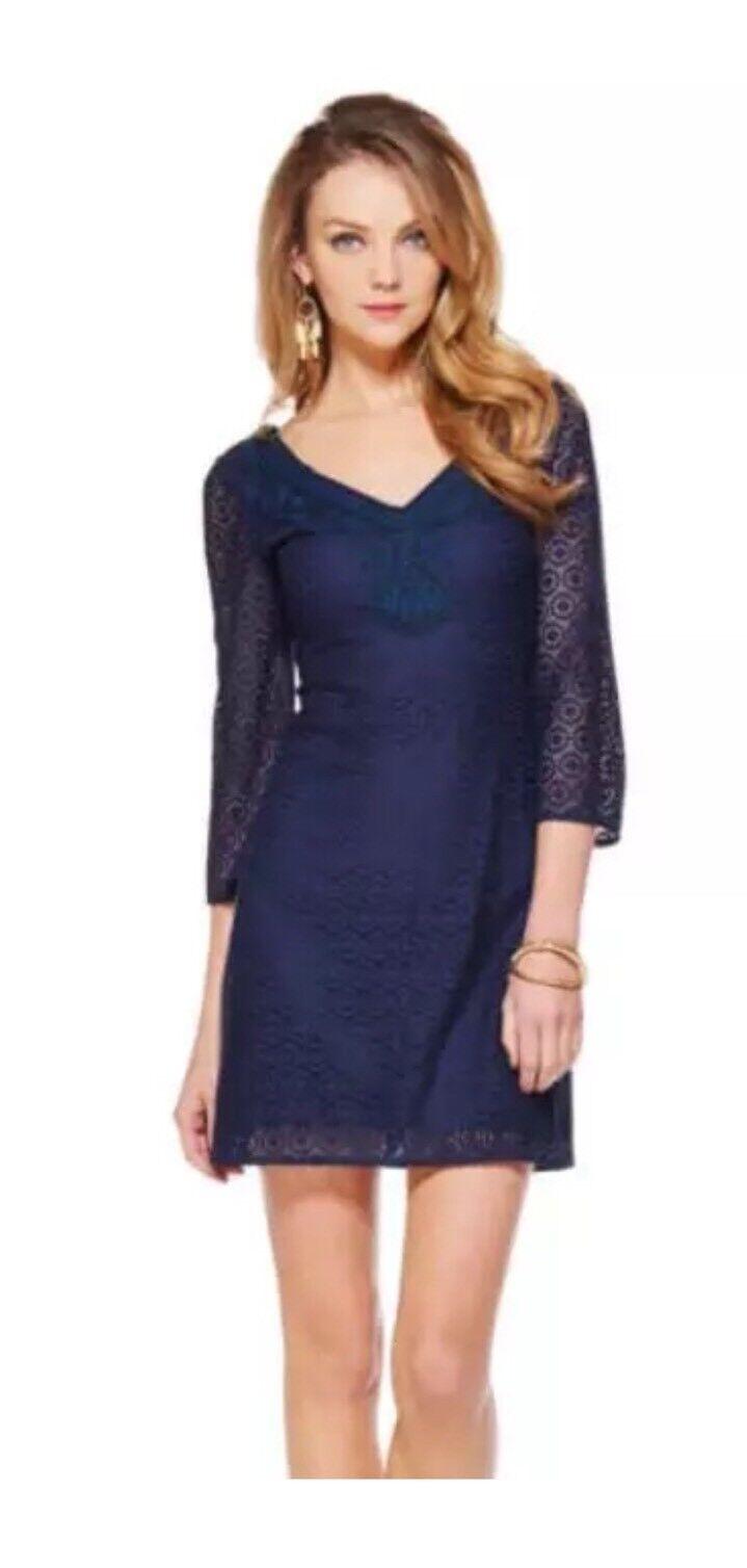 NEW Lilly Pulitzer Navy Alden Dress Medium
