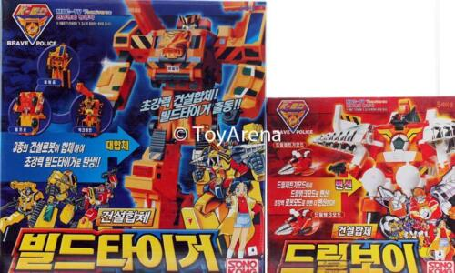 Yuusha DX The Brave Police Build Tiger and Drill Boy Super Build Tiger Set