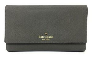 Kate Spade New York Mikas Pond Phoenix Trifold Leather Wallet Cliff Grey - $248