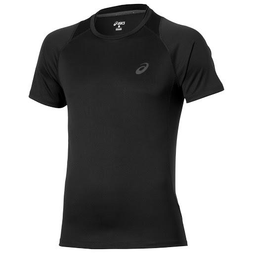 Asics Mens Running T-Shirt Stride Race T-Shirt - Black - New