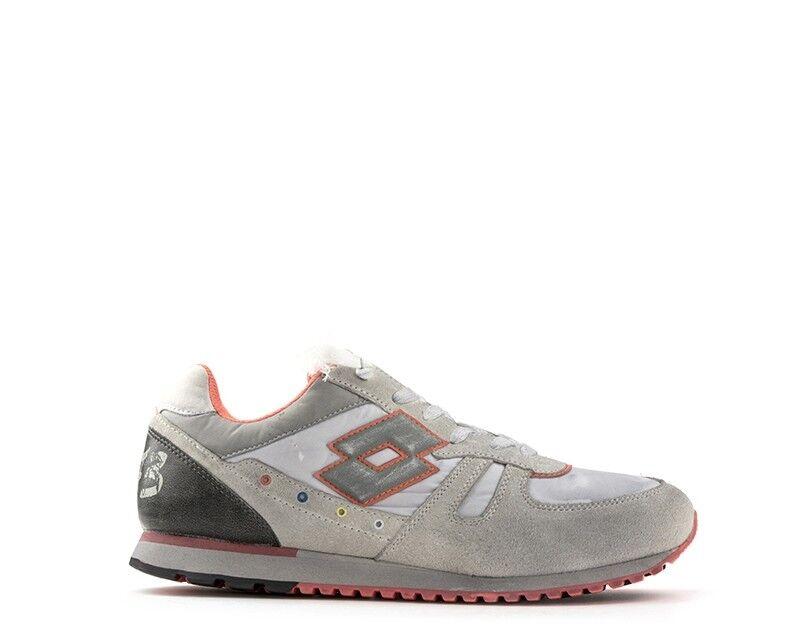 shoes LOTTO LEGGENDA men Sneakers  grey ARANCIO Pelle naturale,Scamosciato,T