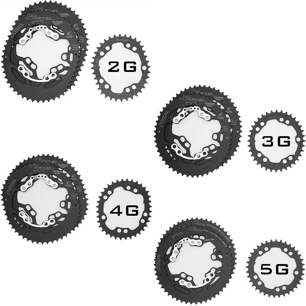 DOVAL ONE-PIECE Chainring 2G, 3G, 4G, 5G NANO Type BCD110 For Shimano Sram etc..