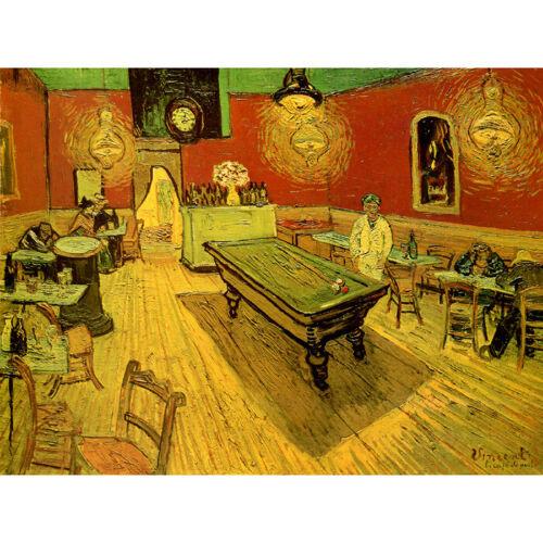 "Night Café Vincent Van Gogh HD Canvas Art Print Oil Painting Decor 12X16/"""