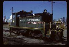 Original Slide Seattle & North Coast ex MILW SW1 52 In 1986 At Seattle WA