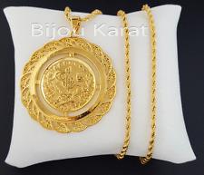 Resat Altin Ceyrek Tugra Kette Gold GP Münze 22 Karat vergoldet Zincir 56 mm