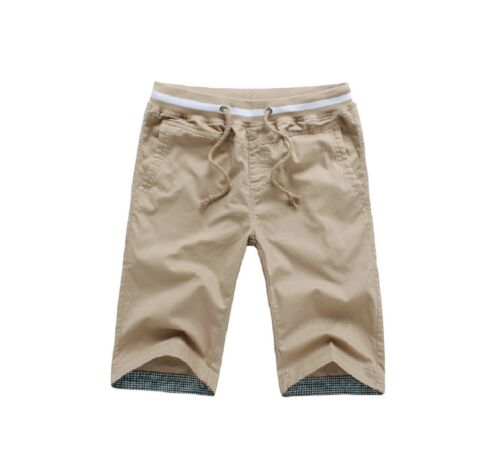 Uomo Pantaloni Corti Shorts Bermuda Cargo Capri Pantaloni colabrodo Casual S-L