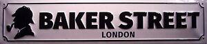 Baker-Street-London-PLACA-CALLE-Letrero-De-Metal-3d-Lata-Firmado-10-x-46cm