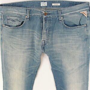 Details zu REPLAY M909D 226 07 007 JENNON, Jeans, Hose, Herren, Löcher, Risse, Denim