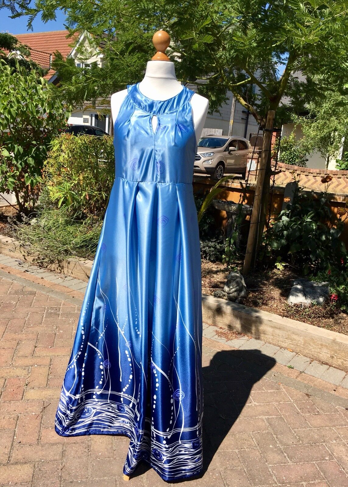 Ladies maxi dress size 14 Ocean Inspired In Shades Of bluee Party holiday