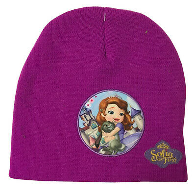 SOFIA THE FIRST BEANIE HAT WARM KNITTED WINTER ONE SIZE CHILDRENS GIRLS GIFT
