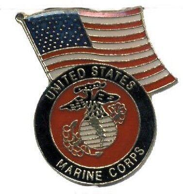 Hat Lapel Push Tie Tac Pin USCG Coast Guard Emblem and Flag NEW