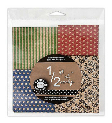 Canvas Corp 1/2 lb Printed Paper Scrap Pack ~ Great for Collages and Scrapbooks!