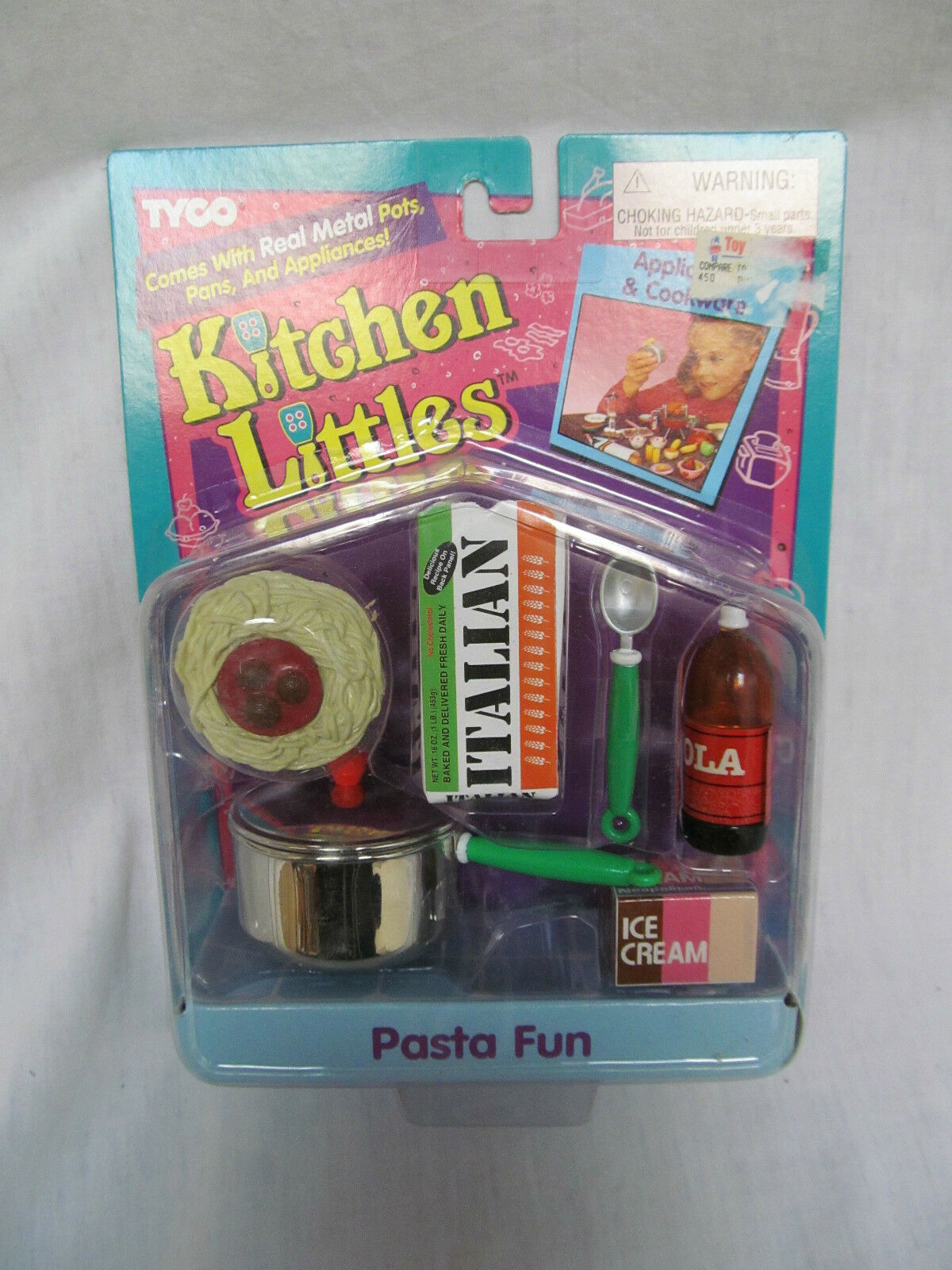 BRAND NEW 1995 BARBIE TYCO KITCHEN LITTLES PASTA FUN APPLIANCES & COOKWARE