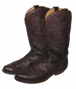 """ Vidal "" D' Homme Style Western Bottes / Bottes de Cowboy Braun Env. 41 - 41,5"