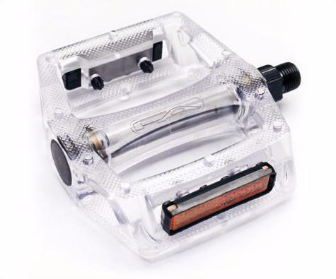 """Free Agent Poly Platform Pedals Clear 9//16/"""" Bike"""