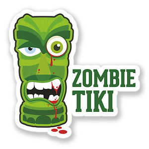 2 x Zombie Outbreak Management Sticker Joke Car Bike iPad Laptop Decal #4104
