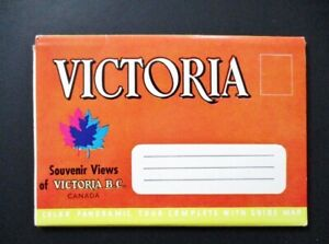 Victoria-British-Columbia-Souvenir-Travel-Folder-Empress-Hotel-RCMP-amp-More